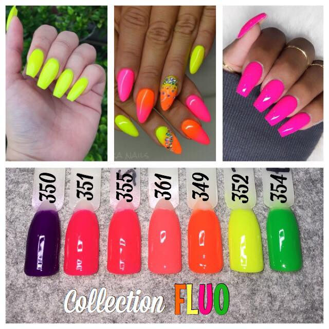 collection fluo ete 7 couleurs ongles deco. Black Bedroom Furniture Sets. Home Design Ideas